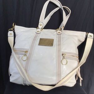Coach Poppy Glamour Patent Leather Tote Bag